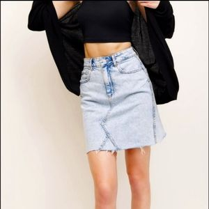 Dynamite High Waist Jean Skirt